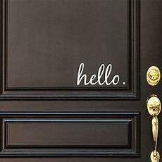 hello home decor hello front door decal sonya house ideas home office