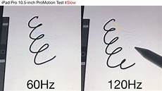 pro 10 5 inch promotion 60 vs 120hz latency test with