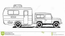 Malvorlagen Auto Mit Wohnwagen Cing Caravan Motorhome Er Car With Trailer Black