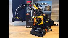 lego technic 42053 quot volvo ew160e quot review with unboxing