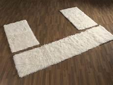 bettumrandung teppich flokati langflor teppich bettumrandung natur 1500 g m m ebay
