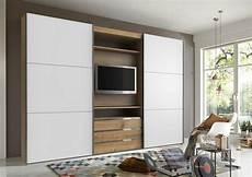 Schwebetürenschrank Mit Tv - fresh to go schwebet 252 renschrank mit drehbaren tv element