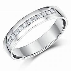 4mm palladium slight court diamond wedding ring band palladium rings at elma uk jewellery