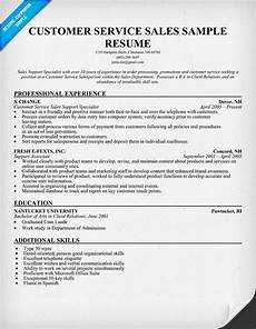 customer service sales resume sle resumecompanion com