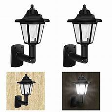 2 of solar powered vintage wall lights outdoor garden led wall l classic sconce wall