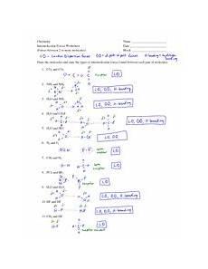 intermolecular forces worksheet key chemistry intermolecular forces worksheet forces between
