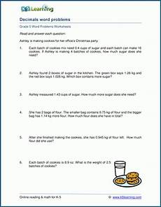 decimal word problems worksheets for grade 5 7546 mixed decimals word problems for grade 5 k5 learning