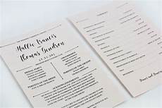 3 steps to a stylish wedding program fan lci paper