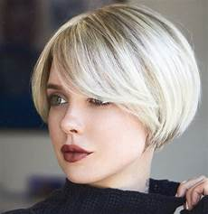 picture of a bob with side bangs is a chic retro