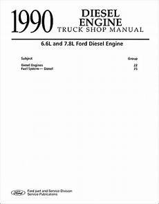 car repair manual download 1990 ford f series engine control 1990 ford truck 6 6 and 7 8 diesel engine repair shop manual