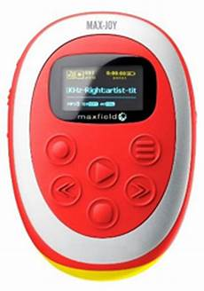 mp3 player fuer kinder maxfield max mp3 player 256 mb erweiterbar mit sd