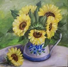 bouquet de tournesol bouquet de tournesols peinture par c ceballos artmajeur