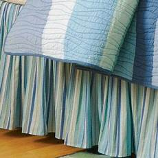 c and f enterprises ocean wave stripe coordinate dust ruffle bed bedskirt bedding accessories
