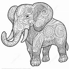 Ausmalbilder Elefant Mandala Elephant Ethnic Zentangle Coloring Page Free Printable