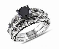 and cheap black diamond wedding ring sets for
