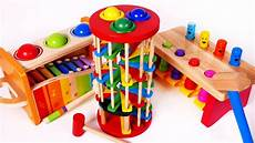 pounding ball table learning toys for children learn colors youtube