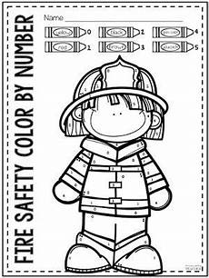 color by number coloring pages 18053 tpt safety freebie for preschool kindergarten and 1st grade safety week