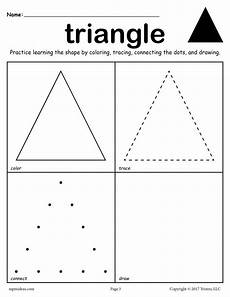 triangle tracing worksheet 12 shapes worksheets color trace connect draw
