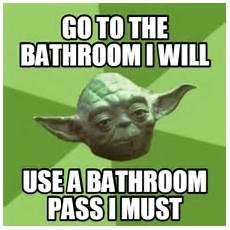 Meme Bathroom Passes by Meme Characters Memes