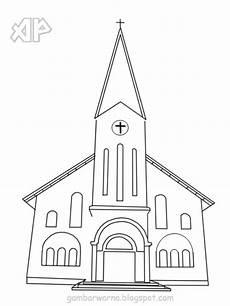 Mewarnai Gambar Gereja