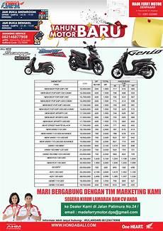 Harga Lu Variasi Motor by Promo Honda Bali 2020 Terbaru Daftar Subsidi Dan