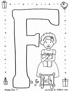 quot f is for faith quot coloring page