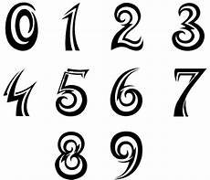 lettering zahlen 14 cool number fonts and styles images different types