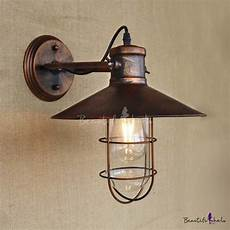 single light copper nautical wall sconce with cage beautifulhalo com