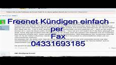 Kündigung Per Fax - kontakt zu freenet k 252 ndigen per fax 04331693185