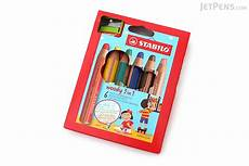stabilo woody 3 in 1 colored pencil 6 color set with