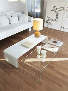 table basse blanche moderne table basse ronde ou ovale