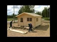 cabine installation allwoodoutlet lillevilla garden cabin installation