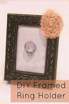 diy framed ring holder diy diy frame diy wedding ring diy home decor