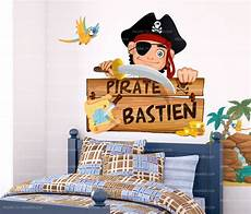 sticker personnalis 233 avec pr 233 nom d enfant stickers pirate