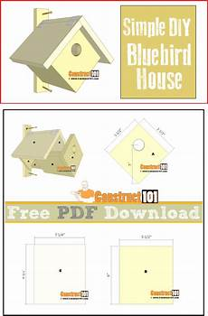 bluebird bird house plans simple bluebird house pdf download construct101