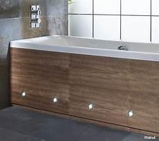 porto walnut front bath panel with led lights 1700mm