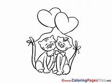 cats printable coloring pages s day