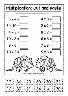 multiplication and division cut and paste math worksheets