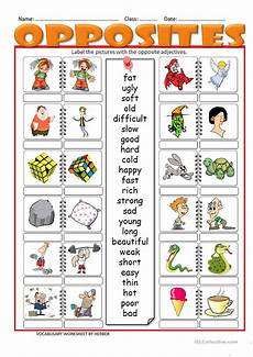 opposites ws worksheet free esl printable worksheets made by teachers