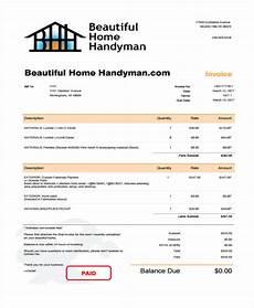 handyman receipt template 6 handyman invoice template free sle exle format