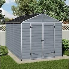 palram skylight plastic anthracite apex shed 8x12 garden street
