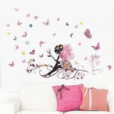 stickers deco chambre fille papillon fleur f 233 e stickers muraux pour enfants chambre d 233 coration murale chambre salon enfants