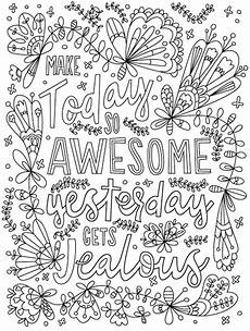 make today so awesome that yesterday gets jealous words coloring words coloring pages for