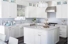 Blue Tile Backsplash Kitchen White Kitchen With Blue Mosaic Tile Backsplash
