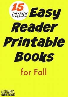 fall easy reader printable books for kids easy reader kindergarten reading kids reading