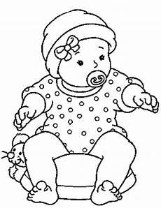 Malvorlagen Baby Junge Malvorlage Baby Mit Gepunktetem Strler Als Ausmalbild