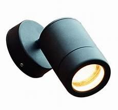 wall mounted spot light 35w mains gu10 adjustable internal external black ip65