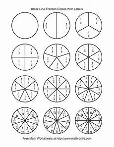 blackline fraction circles small labeled