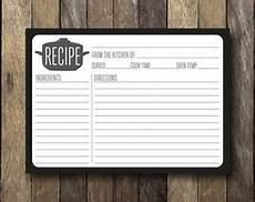 5x7 recipe card template free items similar to printable recipe