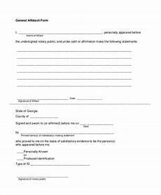 general affidavit form free 7 sle blank affidavit forms in pdf